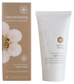 Manuka honey night cream for oily to normal skin