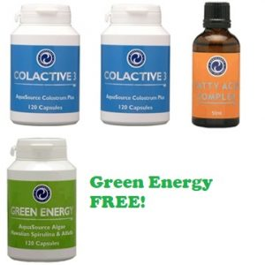 aquasource products - colactive 3, fatty acid complex, green energy