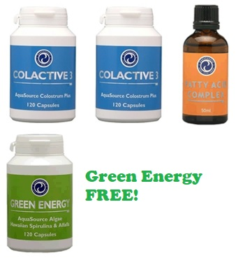 Order 2x ColActive 3 + 1x Fatty Acid Complex and get 1x Green Energy free!