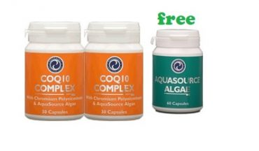 Order 2x Coenzyme Q10 Complex and get 1x AFA Algae 60 caps for FREE