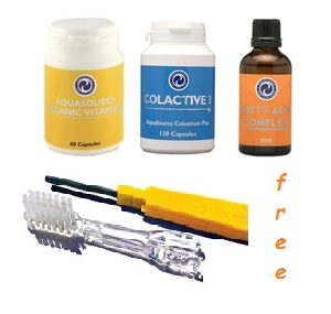 AquaSource Promotion - Vitamin D, Colactive 3, Fatty Acid Complex, Soladey-Eco Ion Toothbrush for free