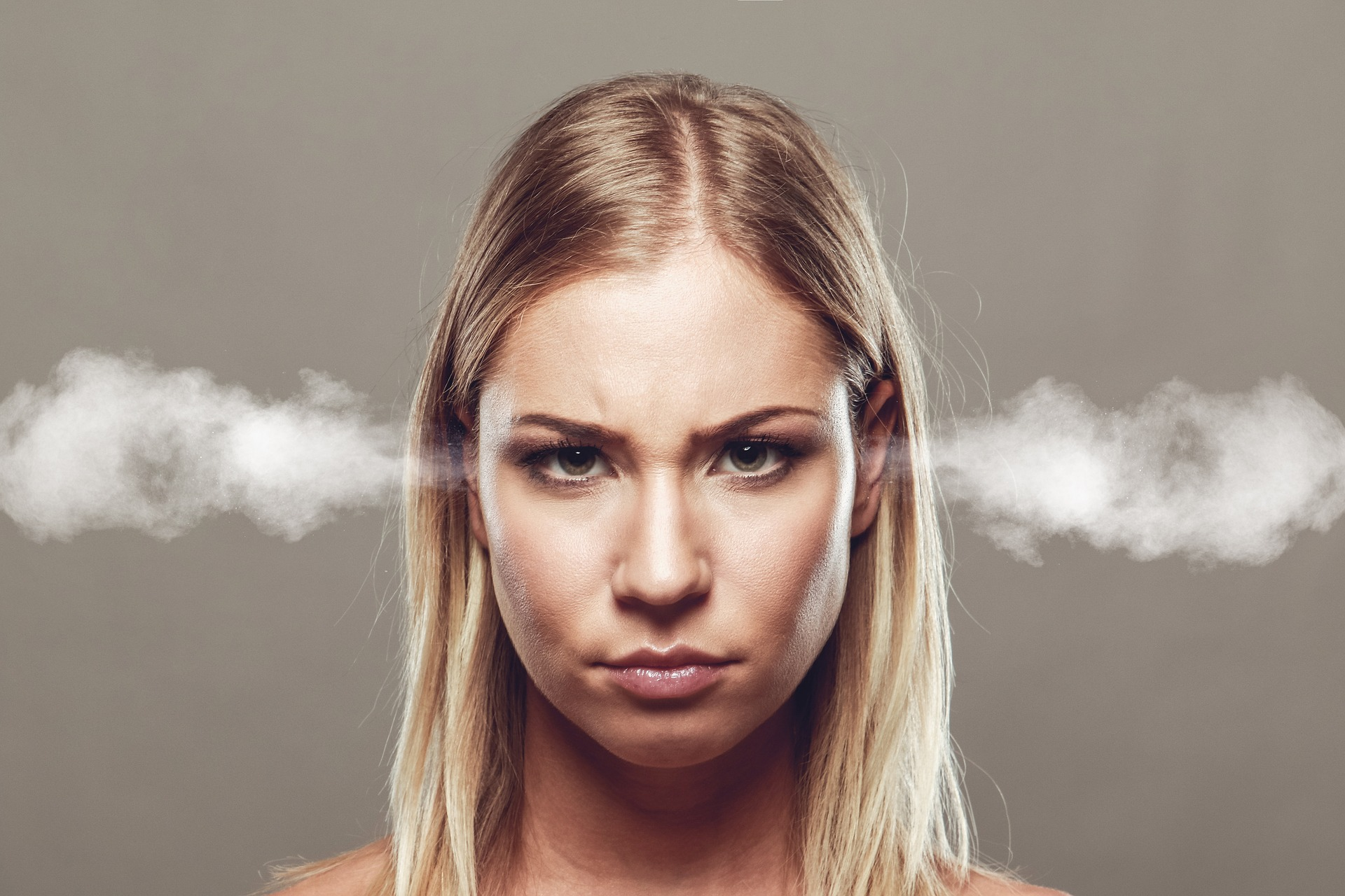 angry woman with steam coming out from her ears